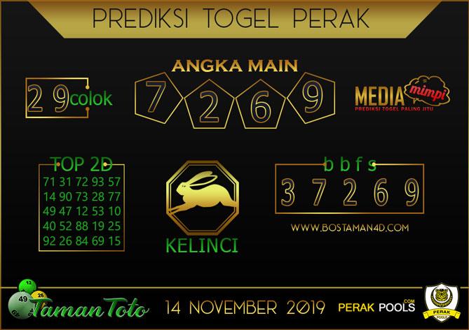 Prediksi Togel PERAK TAMAN TOTO 14 NOVEMBER 2019
