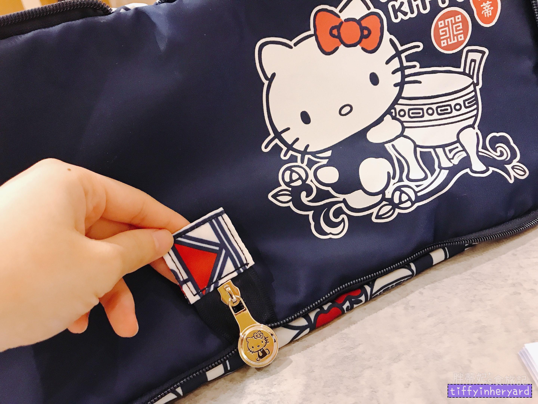 deya凱蒂貓故宮旅行袋底下的樣子