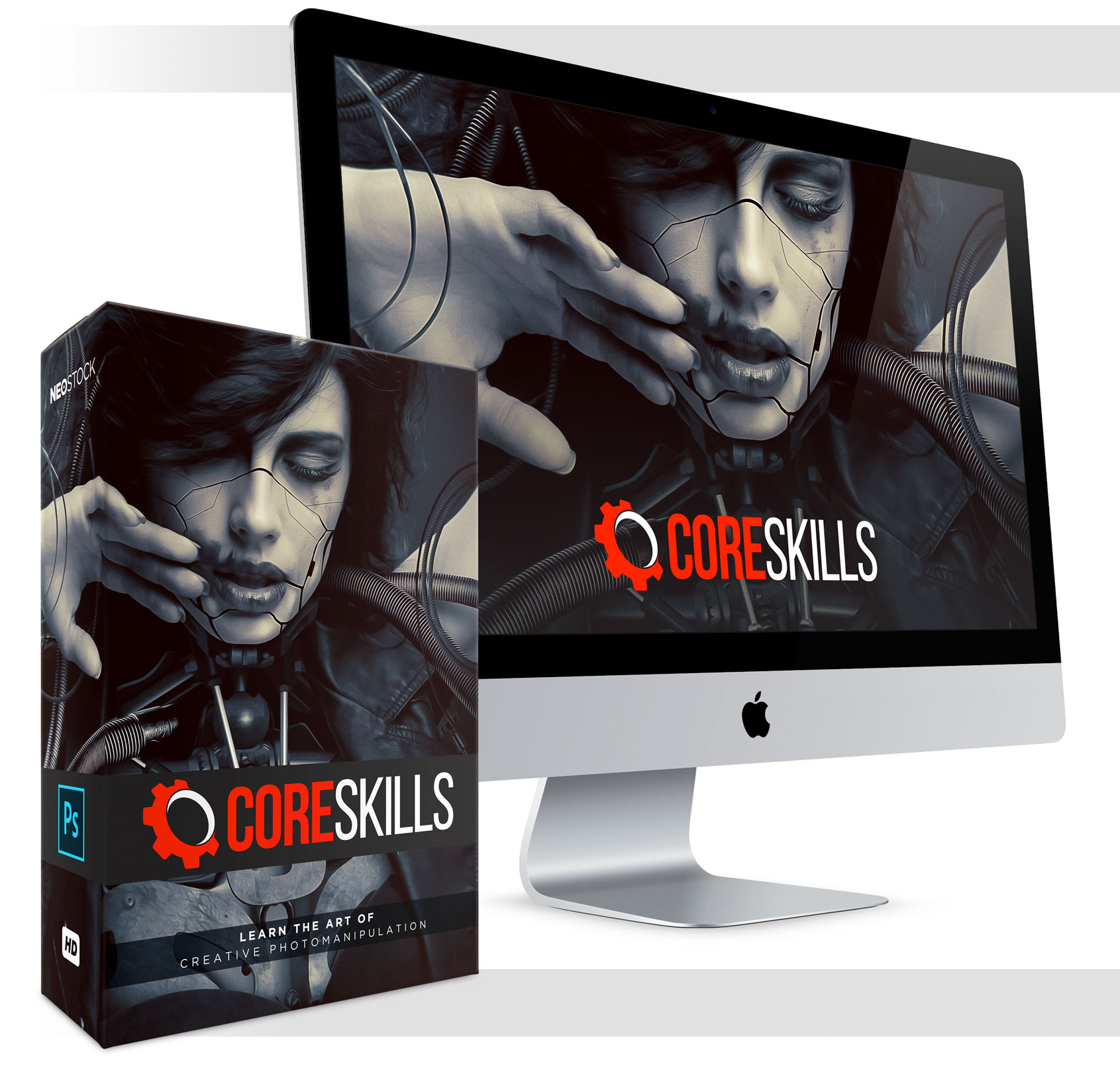 core skills learn creative photomanipulation photoshop video training