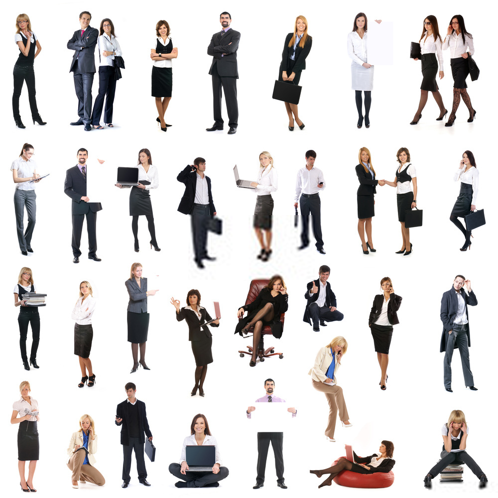 300 Cut-Out People Images