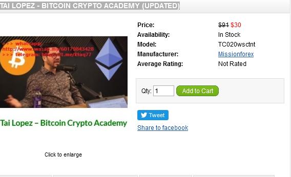 Tai Lopez - Credit Mentor (Enjoy Free BONUS Tai Lopez - Bitcoin Crypto Academy (Updated))