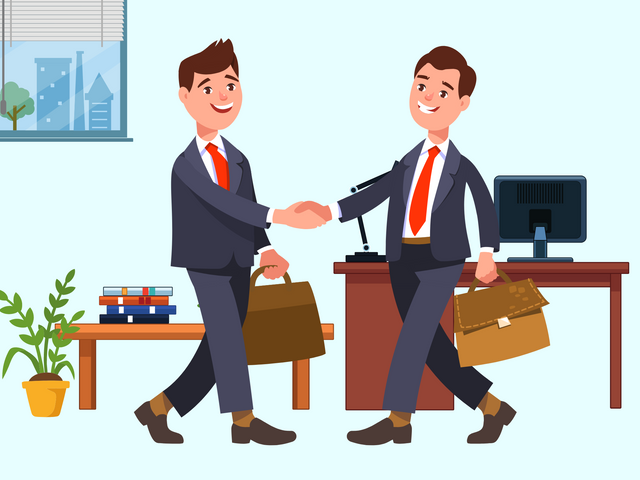 Two-foreign-businessmen-shaking-hands