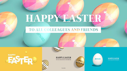 Easter Greetings Pack 4 in 1   Horizontal & Vertical 23595235 - Project for After Effects (Videohive)