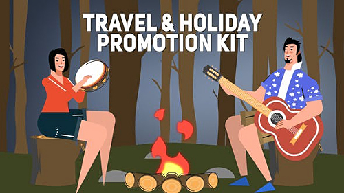 Travel & Holiday Promotion Kit 25443546 - Project for After Effects (Videohive)