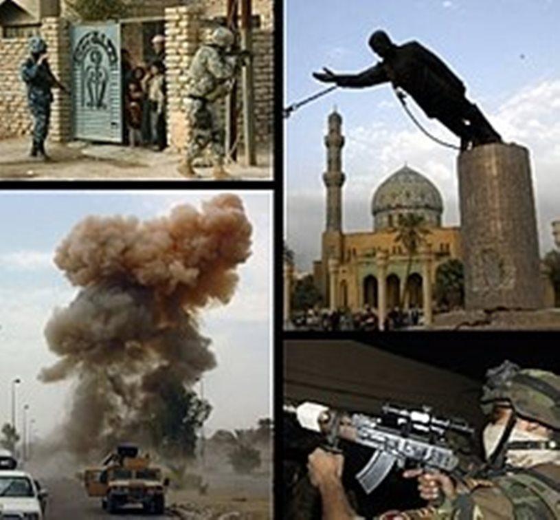 Mosaico de imágenes de la Guerra de Irak