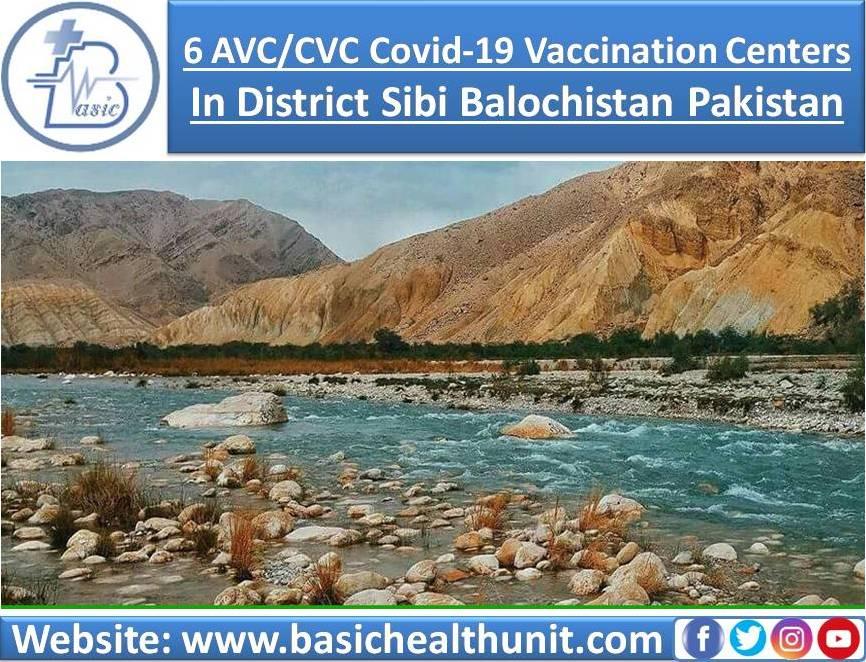 6 AVC/CVC Covid-19 Vaccination Centers In District Sibi Balochistan Pakistan