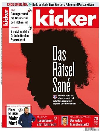 Cover: Kicker Sportmagazin No 70 vom 30  August 2021