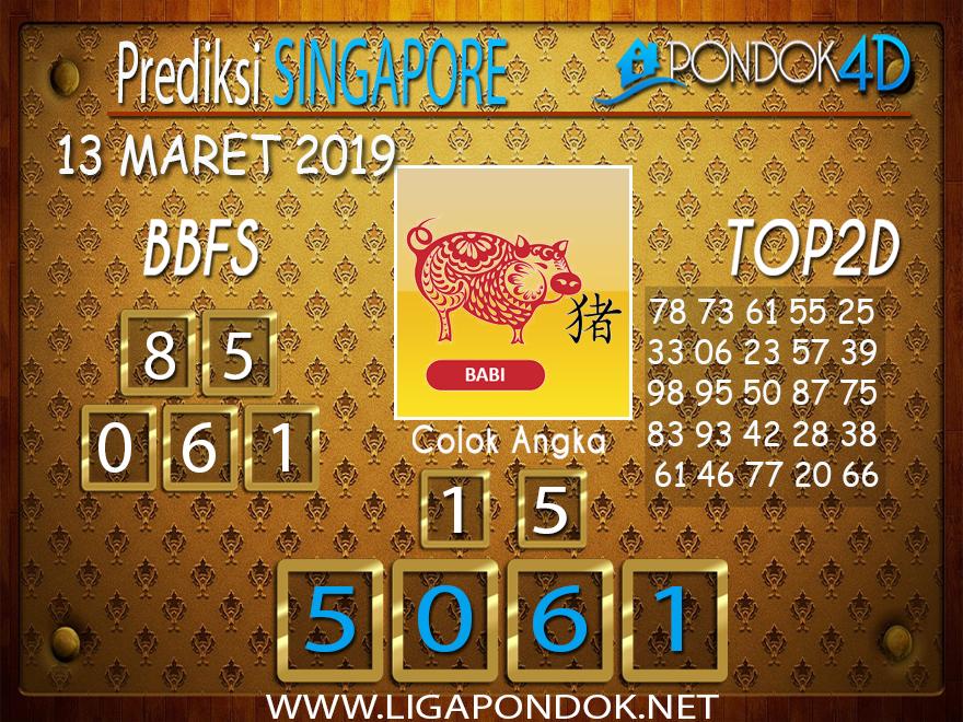 Prediksi Togel SINGAPORE  PONDOK4D 13 MARET 2019