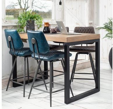 Idée Couleurs Salon ouvert sur Cuisine blanc/bois clair Table-Haute