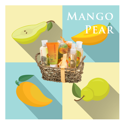 Bath Body and Spa Gift Sets in Relaxing Mango Pear Fragrance Perfect for Women