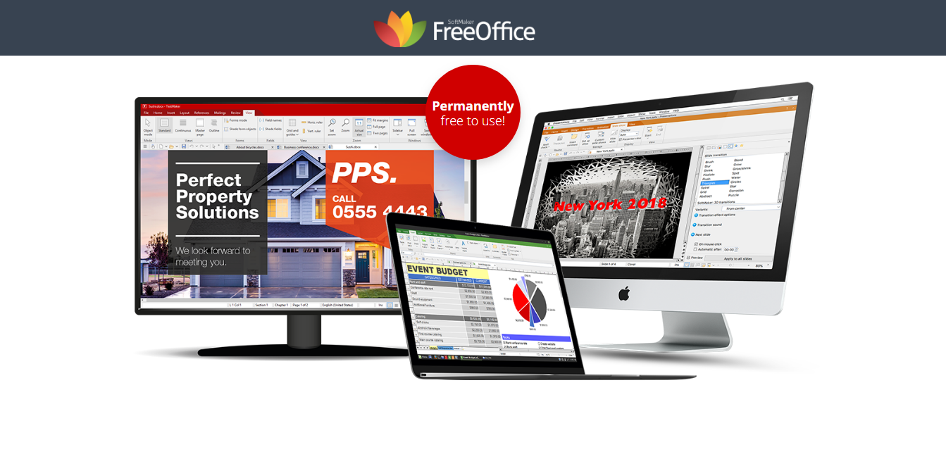 Así se ve la interfaz de FreeOffice