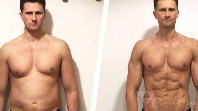 Pria Ini Turunkan Berat Badannya, Bangun Otot Cuma 4 Bulan