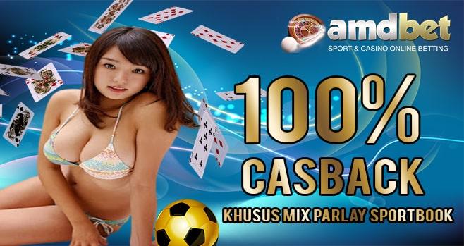 Bonus  CashBack 100% Khusus Mix Parlay