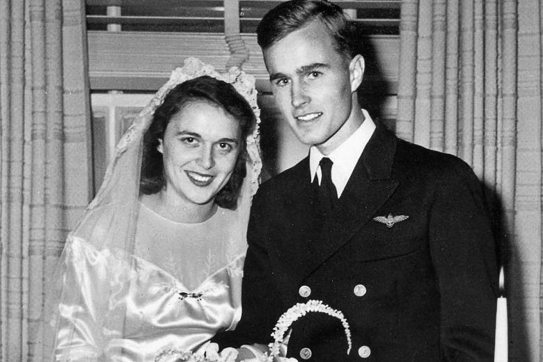 زفاف بوش