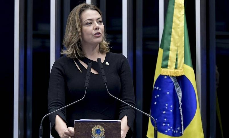 Senadora Leila Barros (PSB) em plenário no Senado Federal