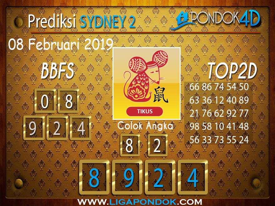Prediksi Togel SYDNEY2 PONDOK4D 08 FEBRUARI 2019