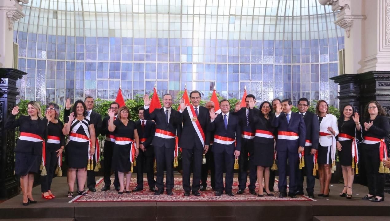 Los nuevos ministros del gabinete Del Solar