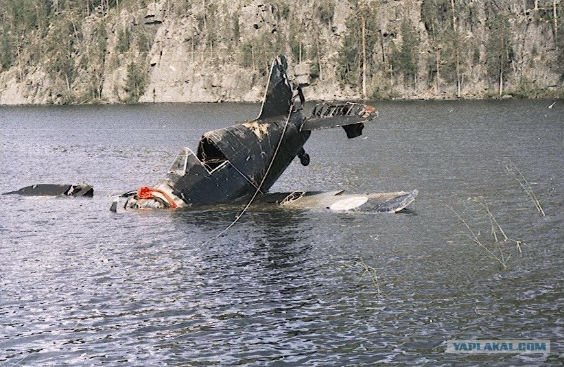 Finnish Brewster BW-372 aircraft found in the lake