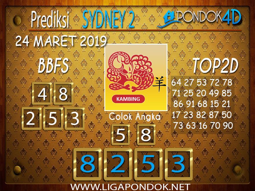 Prediksi Togel SYDNEY 2 PONDOK4D 24 MARET 2019
