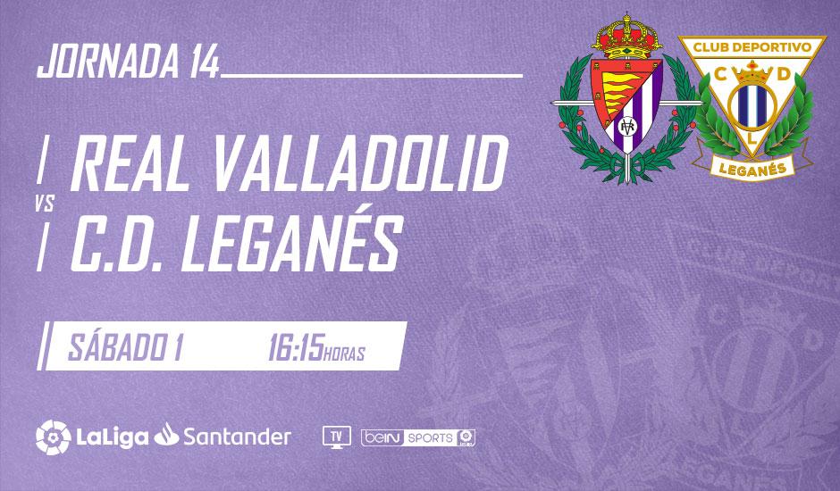 Real Valladolid - C.D. Leganés. Sábado 1 de Diciembre. 16:15 RV-Leganes