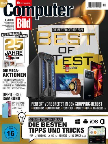 Cover: Computer Bild Magazin No 19 vom 10  September 2021