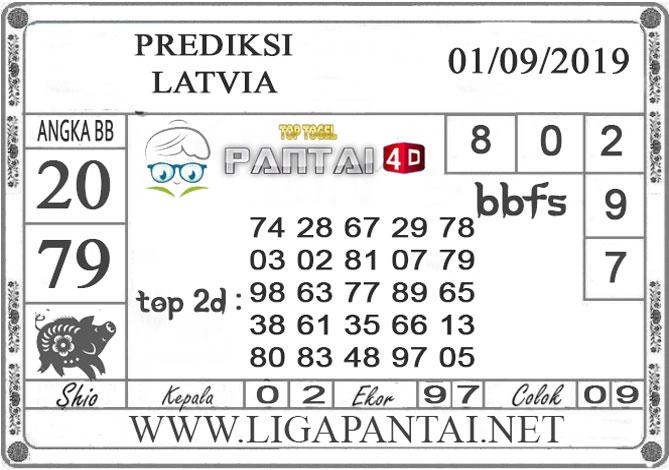 "PREDIKSI TOGEL ""LATVIA"" PANTAI4D 01 SEPTEMBER 2019"