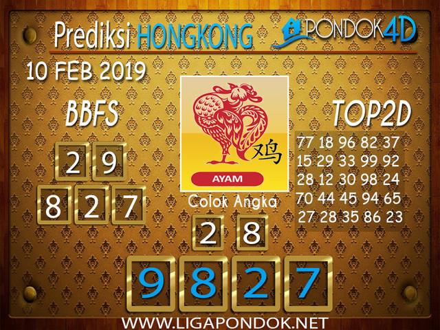 Prediksi Togel HONGKONG PONDOK4D 10 FEBRUARI 2019