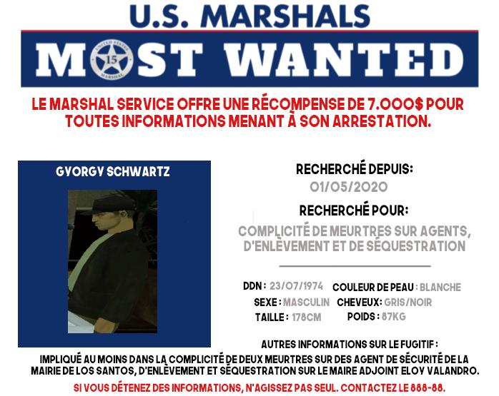 U.S. MARSHALS : MOST-WANTED #2 MW-Gyorgy