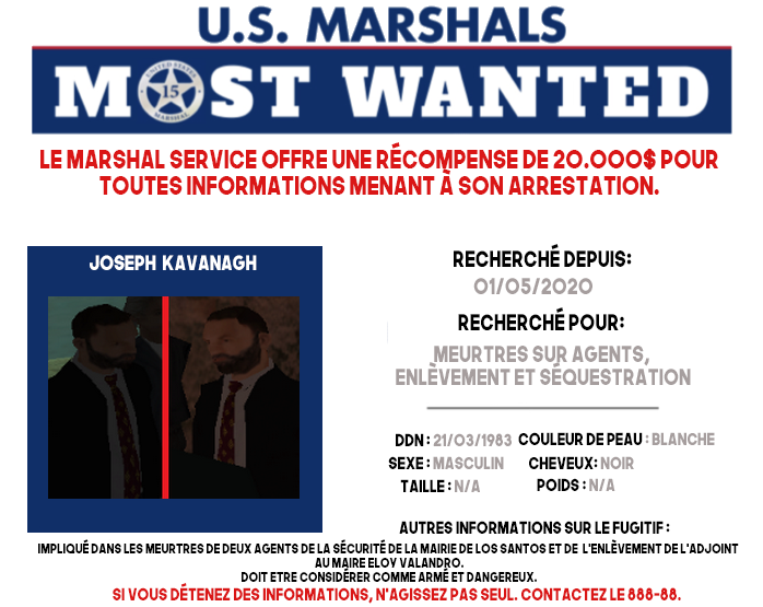 U.S. MARSHALS : MOST-WANTED #1 MW-Joseph