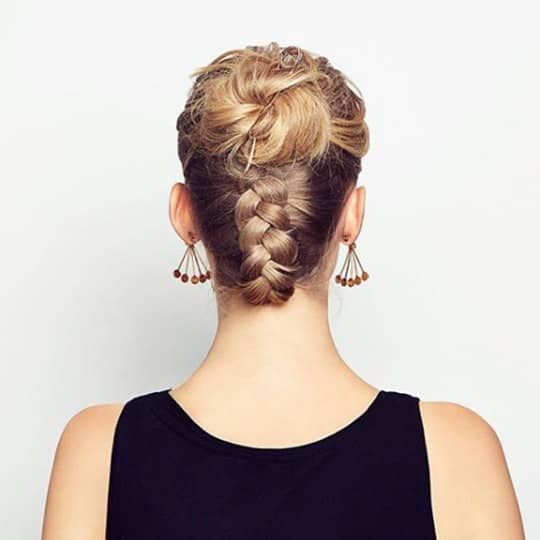 Honey-strawberry-styled-hair