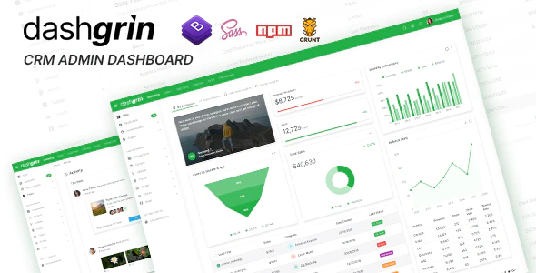 ThemeForest - Dashgrin v1.0 - Responsive Data Analytics Admin Dashboard Template (Update: 2 January 20) - 25227304