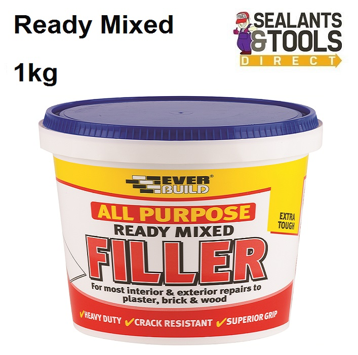 Everbuild Ready Mixed Decorating White Filler 1Kg RMFILL1