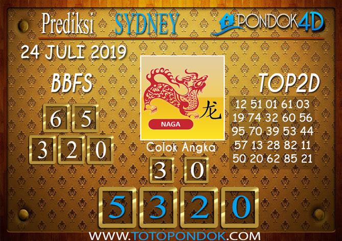 Prediksi Togel SYDNEY PONDOK4D 24 JULI 2019