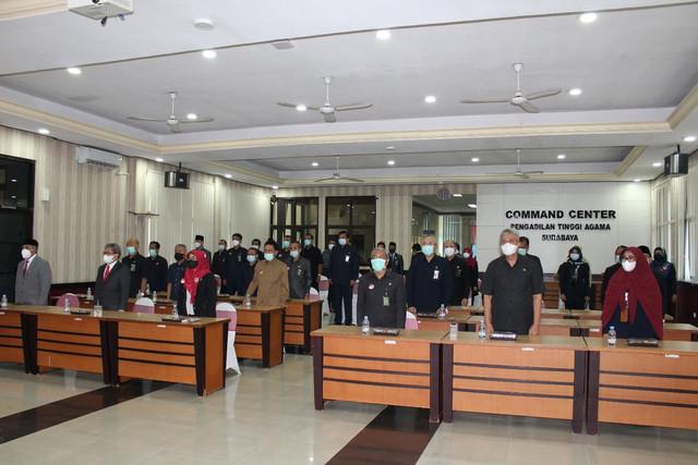 KPTA Surabaya Lantik 5 Panitera Pengganti Baru