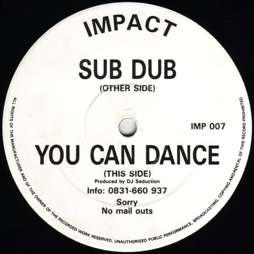 Download DJ Seduction - Sub Dub / You Can Dance mp3