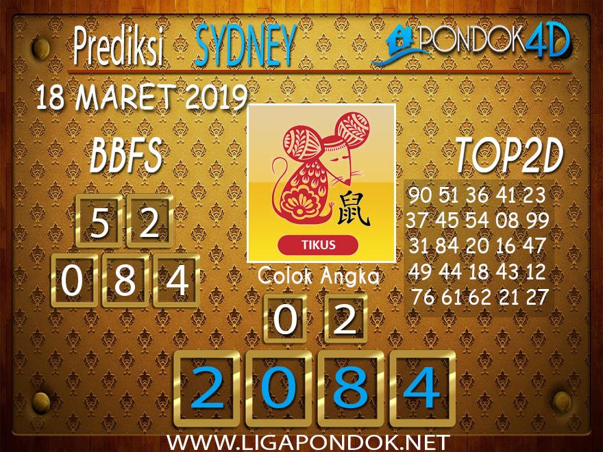 Prediksi Togel  SYDNEY  PONDOK4D 18 MARET 2019