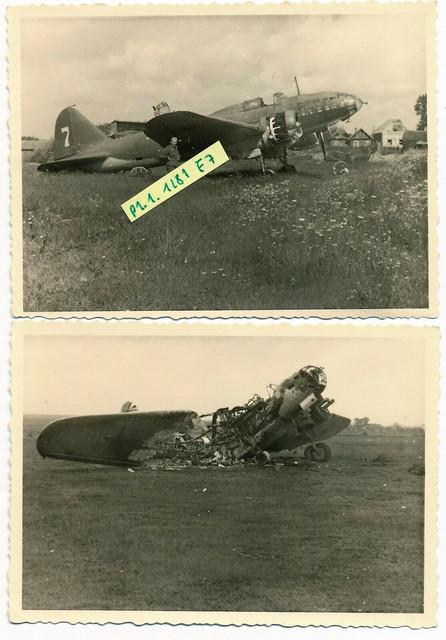 Zerst-rter-russischer-Bomber-Iljuschin-Il-4-Krim-1942