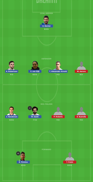 Liv vs Nor Dream11