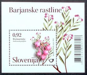 Slovenia stamps CVIJE-E-2011-BARJASKE-RASTLINE-BLOK