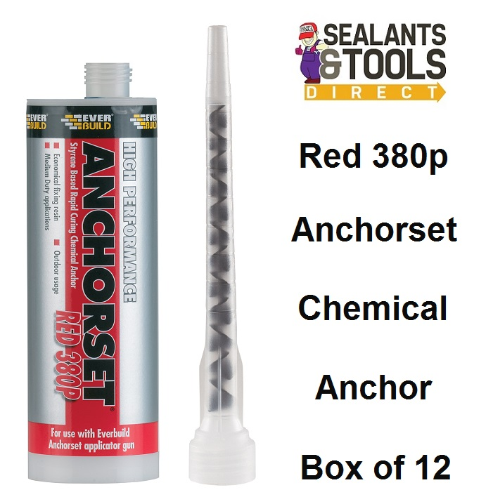 Everbuild Anchorset Red 380 p Chemical Anchor - Box of 12