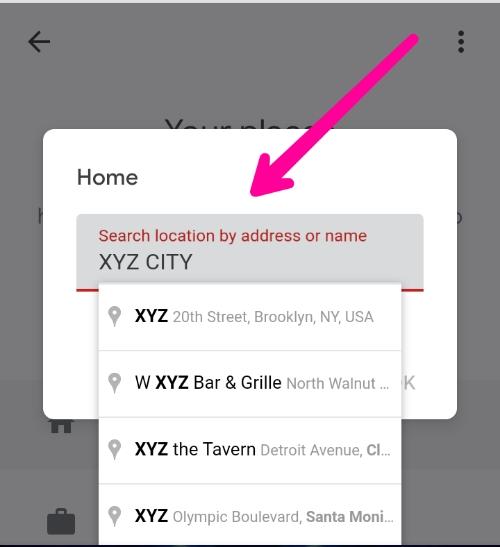 आपका घर कहाँ है ? उसका पता जोड़ें।