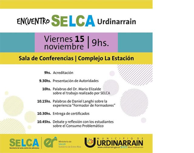 Charlas de la Secretaría de lucha contra las adicciones en Urdinarrain