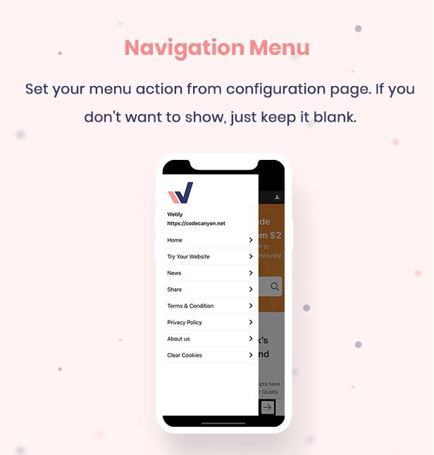 12 webview convert website into native ios app Webly IOS Webview 12