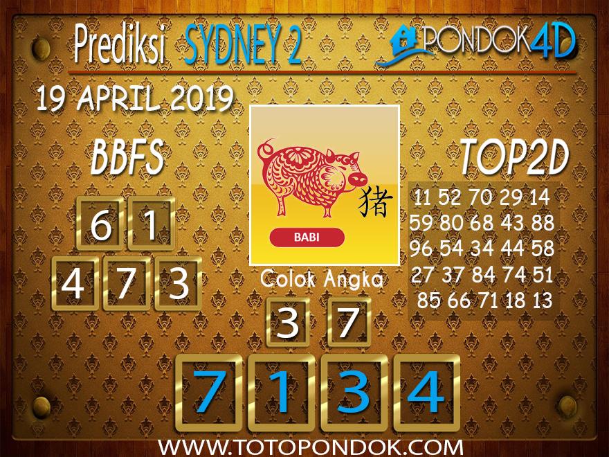 Prediksi Togel SYDNEY 2 PONDOK4D 19 APRIL 2019