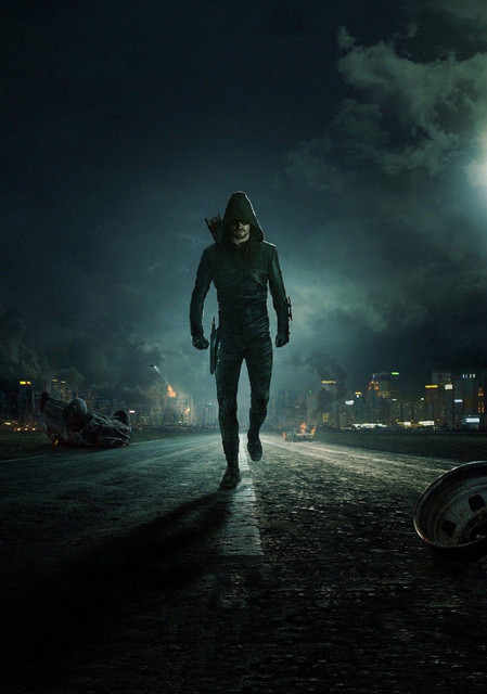 arrow-tv-show-series-art-oliver-queen-green