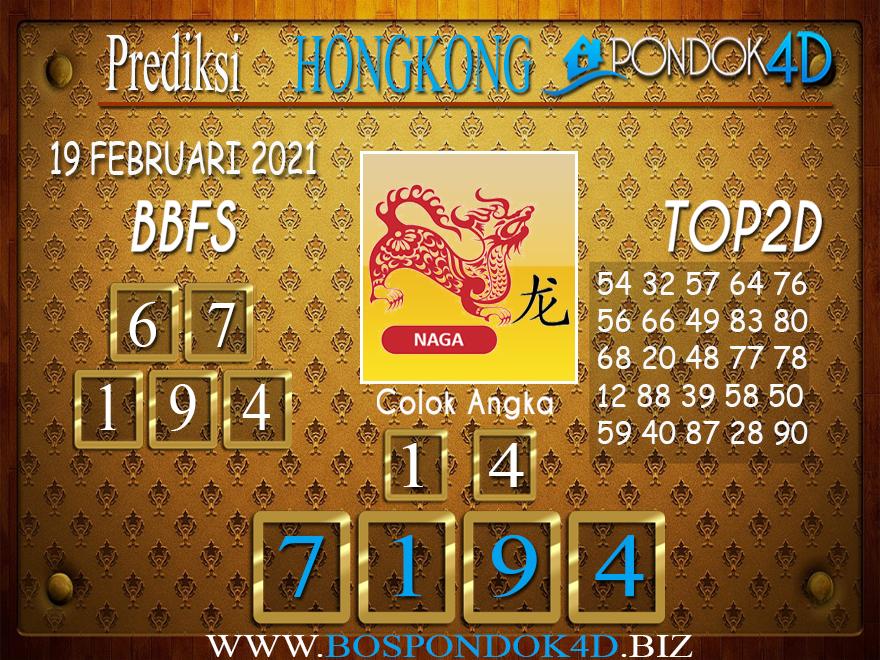 Prediksi Togel HONGKONG PONDOK4D 19 FEBRUARI 2021