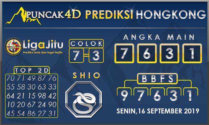 PREDIKSI TOGEL HONGKONG PUNCAK4D 16 SEPTEMBER 2019