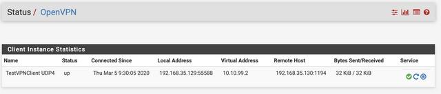 Client VPN Status