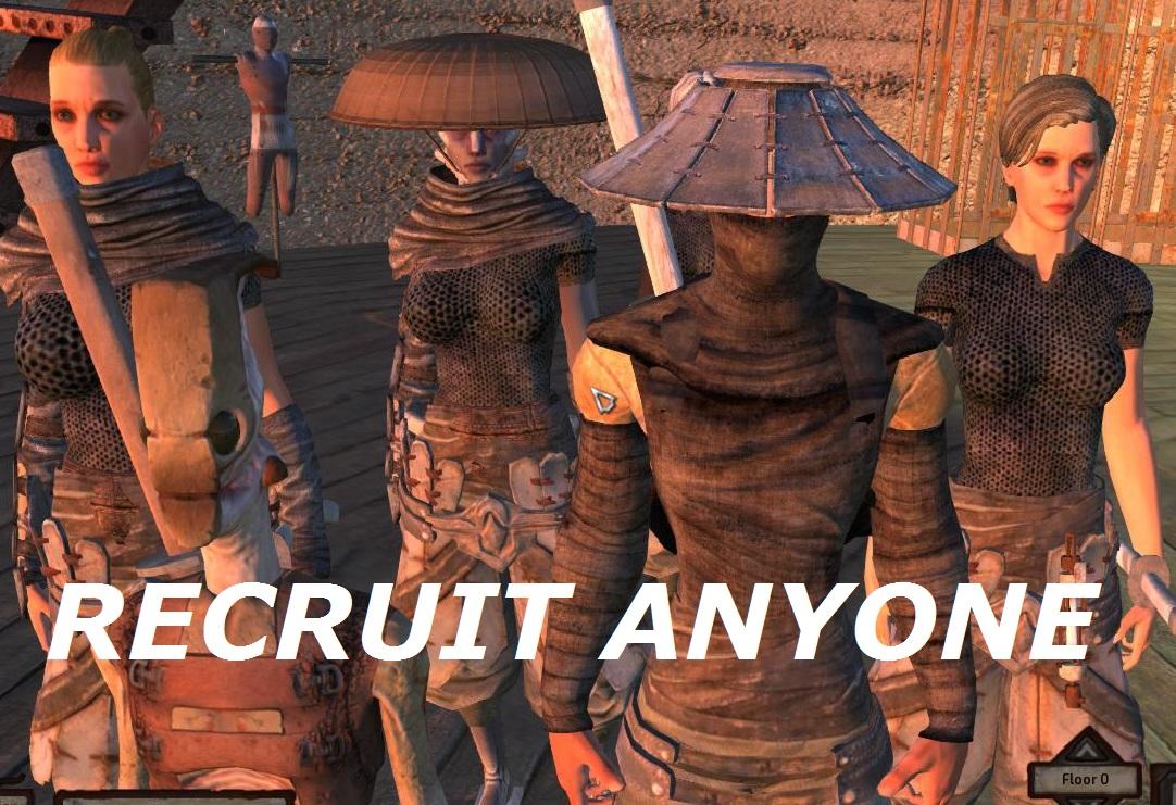 Recruit ANYONE / Любого NPC можно нанять