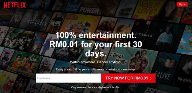 Netflix Homepage - Hotcopy